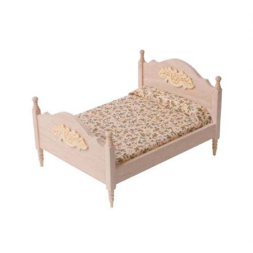 Barewood Dolls House Furniture Bare Essentials 1:12 BEF068 Double Bed